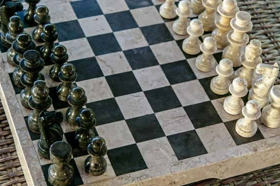 A stone chessboard