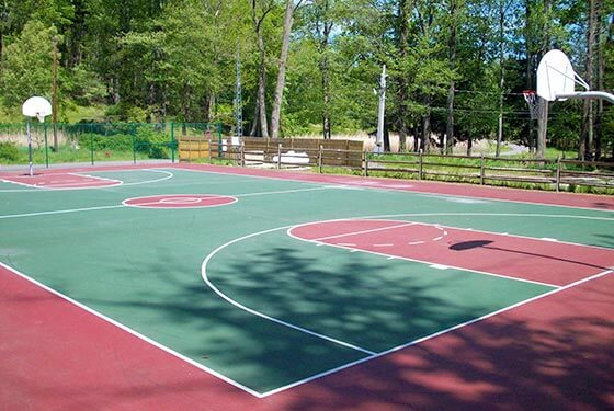Basketball court at the Paise Pond Recreation Center