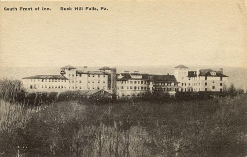 The front of the old Buck Hill Inn