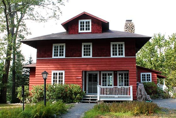 Red house exterior